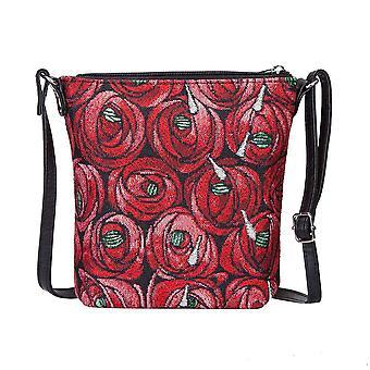 Mackintosh - rose and teardrop shoulder sling bag by signare tapestry / sling-rmtd