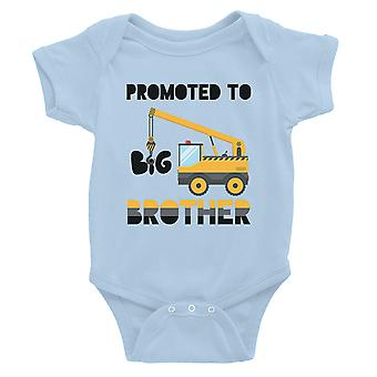 Promoted To Big Brother Baby Bodysuit Gift Sky Blue For Baby Shower