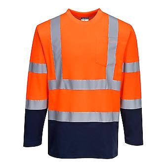 Portwest - Two Tone Hi-Vis Safety Workwear Cotton Comfort Sweatshirt