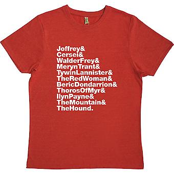 Arya's Kill-Liste (Game of Thrones) Line-Up rot 100% Recycling T-Shirt