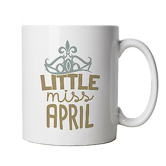 Little Miss April Mug | Happy Birthday Celebration Party Getting Older | Age Related Year Birthday Novelty Gift Present | Birthday Cup Gift