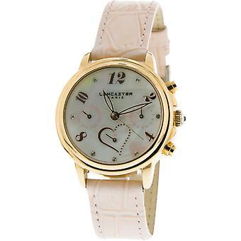 Lancaster watch watches MEZZO LPW00357 - watch MEZZO leather Rose Pale woman