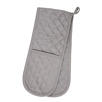 Love Colour Double Oven Glove, Slate Grey