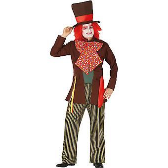 Mens Mad Hatter Fancy Dress Costume Wonderland