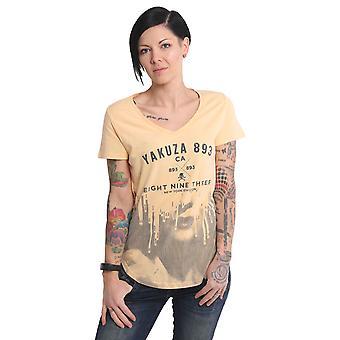 YAKUZA Women's T-Shirt Virus V Neck Dye