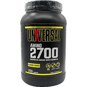 Nutrição Universal Amino 2700 - 700 Comprimidos - 2000mg de aminoácidos por pílula