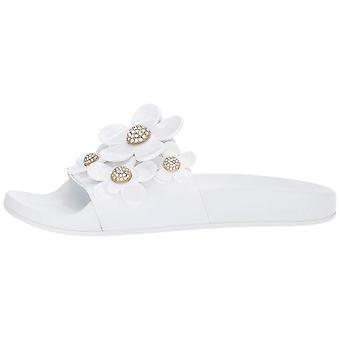 Marc Jacobs Frauen's Daisy Pave Aqua Slide Sandale