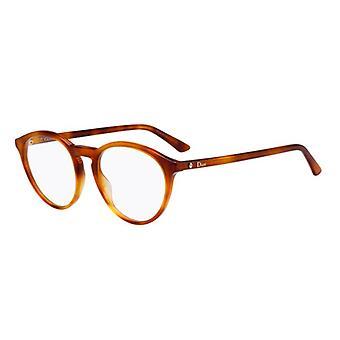 Dior Montaigne 53 SX7 Light Havana Glasses