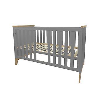 Baby cot Ida, grigio, 140x70 cm