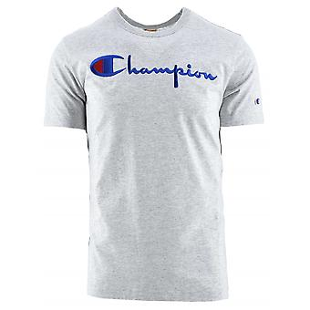 Champion Champion Reverse Weave Grey Logo T-Shirt