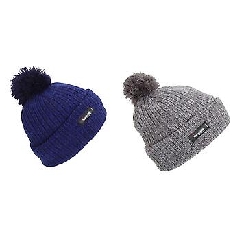 Childrens Thinsulate Knitted Winter Beanie Hat With Pom Pom