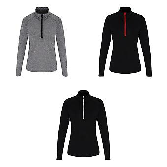 TriDri Womens/Ladies Long Sleeve Performance Quarter Zip Top