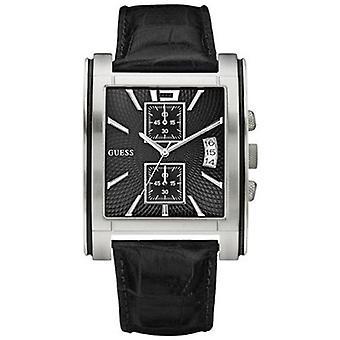 Guess W11537G1-leather band wrist watch