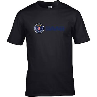 Saab Logo Tekst Farge - Bilmotor - DTG Trykt T-skjorte