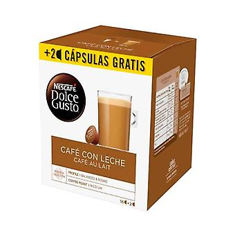 Coffee Capsules Nescafe Dolce Gusto Cafe au lait (18 Uds)