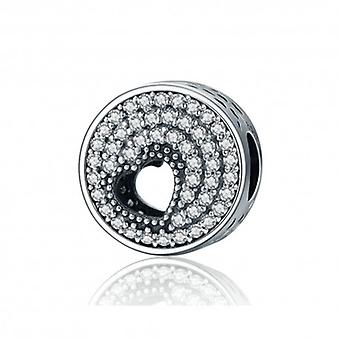 Sterling Silver Charm Shimmering Heart - 5358