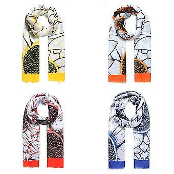 Jewelcity Womens/Dames Grote Zonnebloem Print Sjaal