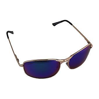 Aurinkolasit Miehet Polaroid Suorakaiteen muotoinen - Kulta/Sininen Violetti brillenkokerS304_3
