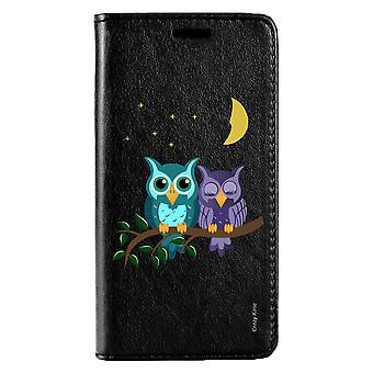 Funda para Huawei P20 Lite Black Pattern Owls In Moonlight