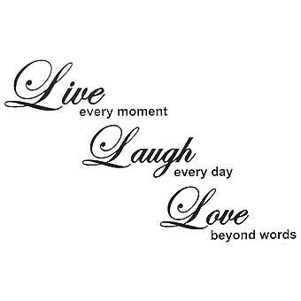 Cytaty z dekoracji ściennych | Live Laugh & Love
