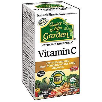 Nature's Plus Source of Life Garden Organic Vitamin C 500mg VCaps 60 (30733)