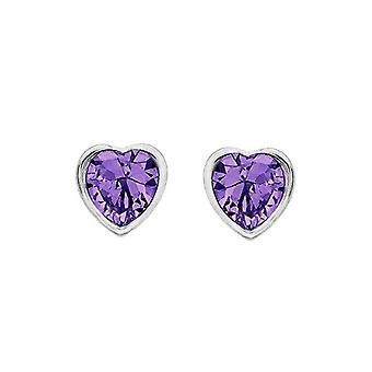 Tuscany Silver Earrings for Women's Stud in Silver Sterling 925 - with Amethyst