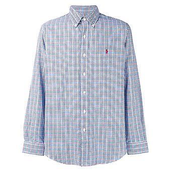 Ralph Lauren Ezcr012001 Men's Blue Cotton Shirt