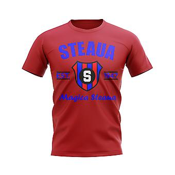 Steaua Bucuresti etablert fotball t-skjorte (rød)
