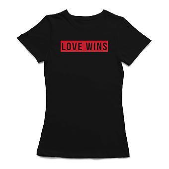 Love Wins Graphic Quote Women's T-shirt