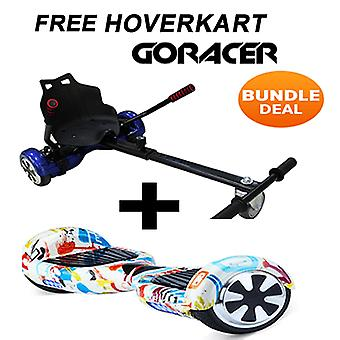 "GoRacer Hoverkart mit 6.5""Classic Bluetooth Graffiti Hoverboard Segway"