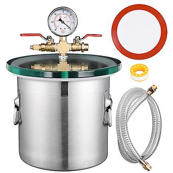 Yescom 2 Gallon Stainless Steel Vacuum Chamber kit to Degass Urethanes Silicones Epoxies
