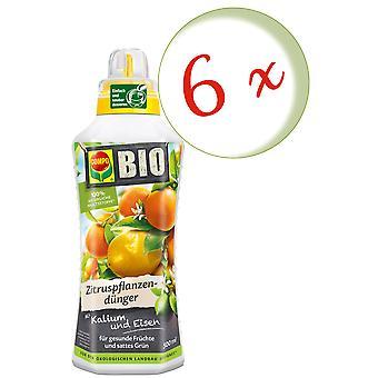 Sparset: 6 x COMPO BIO Zitruspflanzendünger, 500 ml
