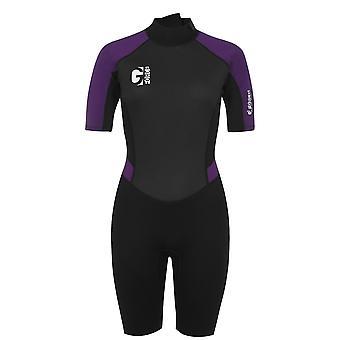 Gul Womens Short Wetsuit Short Sleeve Crew Neck Lightweight Diving Costume