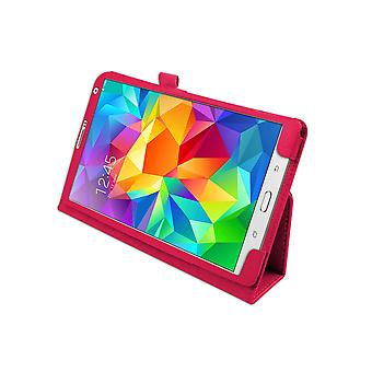 "Magnetic PU Leather Case for Samsung Galaxy Tab S 8.4"" T700[Hot Pink]"