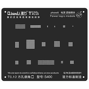QianLi BGA Stencil Template - Power Logic Module - iPhone 8 - S400