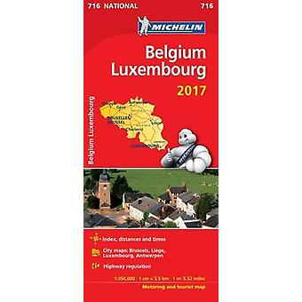 Belgium 2017 & Luxembourg National Map 716 - 9782067218512 Book