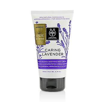 Apivita Caring Lavender Moisturizing & Soothing Body Cream - For Sensitive Skin 150ml/4.74oz