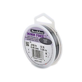 Beadalon Kink Free Titanium Kraal string draad 0.46mm, 3.05m Spool