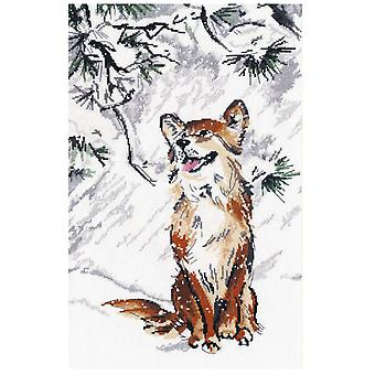 Oven Cross Stitch Kit - The First Snow Was Falling