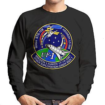 NASA STS 108 Endeavour Crew Badge Men's Sweatshirt