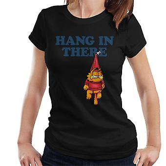 Garfield Pinned Up Hanging In There Women's T-Shirt