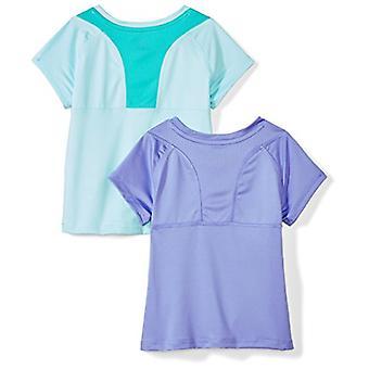 Brand - Spotted Zebra Toddler Girls' 2-Pack Active Short-Sleeve T-Shir...