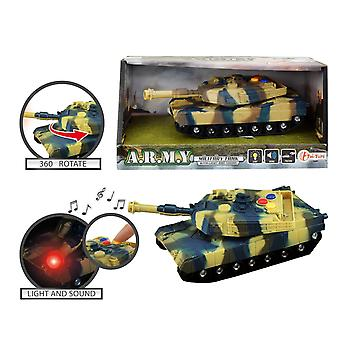 ARMY Military Tank Tank Friction 17cm With Sound & Light
