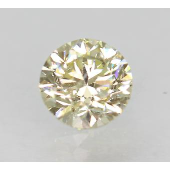 Zertifiziert 0.46 Karat L VS1 Round Brilliant Enhanced Natural Loose Diamond 4.77mm