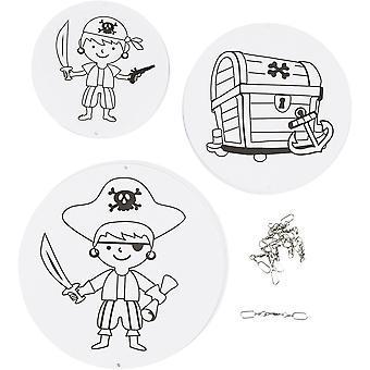 Pirate Colour In Card Mobile Craft Kit for Kids