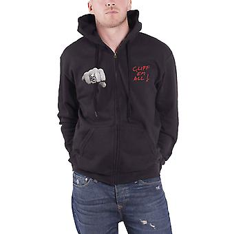 Em de Metallica Hoodie Cliff Burton poings falaise tous officiel Mens noir zippé