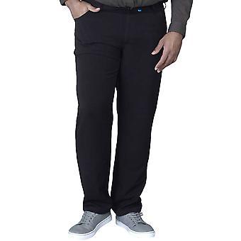 Duke D555 Mens Beck Big Tall King Storlek Bi Stretch Byxor Byxor Jeans - Svart