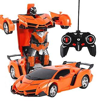 2 In 1 Rc Car Lelu Transformaatio Robots Auto - Driving Vehicle Sports Cars ,