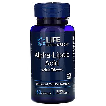 Life Extension, Alpha-Liponsäure mit Biotin, 60 Kapseln