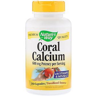 Nature-apos;s Way, Calcium de corail, 600 mg, 180 Capsules